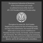 AFM Statement on the passing of AFL-CIO President Richard Trumka